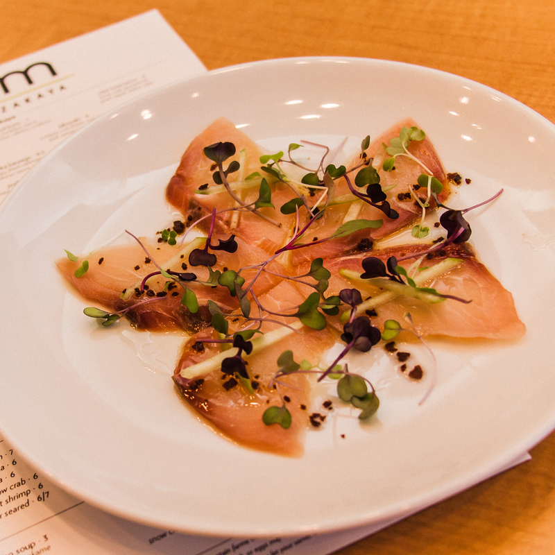 local catch: cobia sashimi